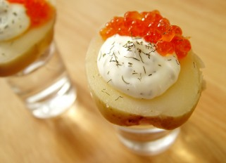 Potatoes with Caviar