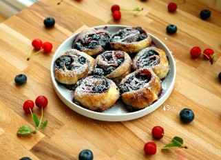 Cherry-Blueberry Swirls