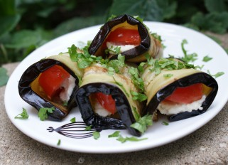 Eggplant with Tomato and Cheese