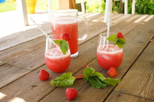 Strawberry Rhubarb Summer Drink