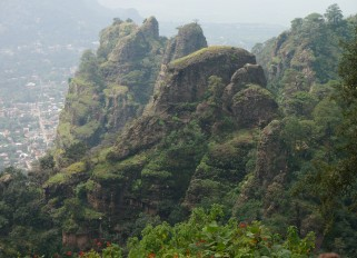 View of Tepoztlan from the pyramid