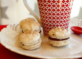 Macarons with Nutella and Lingonberry Jam-5
