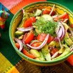 Vegetable Salad with Avocado and Lime Juice