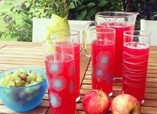 Apple, gooseberry, rhubarb drink